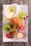 Κρέας που γεμίζεται με το αυγό στοκ φωτογραφία με δικαίωμα ελεύθερης χρήσης