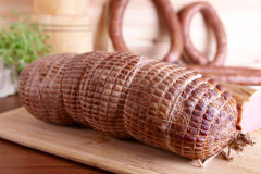 κρέας που καπνίζεται κρύ&omicron Στοκ εικόνα με δικαίωμα ελεύθερης χρήσης