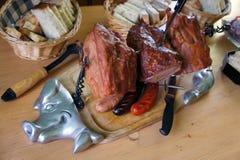 κρέας που καπνίζεται Στοκ φωτογραφία με δικαίωμα ελεύθερης χρήσης