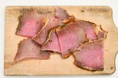κρέας που καπνίζεται Στοκ φωτογραφίες με δικαίωμα ελεύθερης χρήσης