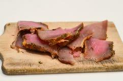 κρέας που καπνίζεται Στοκ Εικόνες
