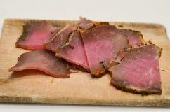 κρέας που καπνίζεται Στοκ Εικόνα