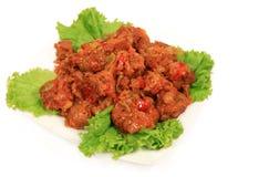 κρέας που μαγειρεύεται Στοκ εικόνα με δικαίωμα ελεύθερης χρήσης