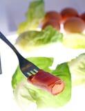 κρέας που τεμαχίζεται Στοκ φωτογραφία με δικαίωμα ελεύθερης χρήσης