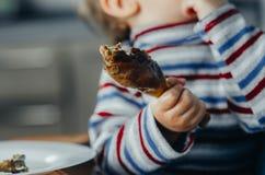 Κρέας που ψήνεται υπό εξέταση Στοκ φωτογραφία με δικαίωμα ελεύθερης χρήσης