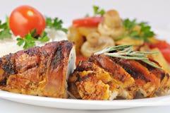 κρέας που ψήνεται Στοκ φωτογραφία με δικαίωμα ελεύθερης χρήσης