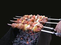 κρέας που ψήνεται Στοκ Εικόνες