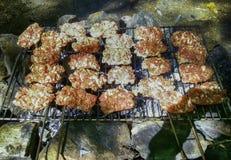 κρέας που ψήνεται Στοκ Φωτογραφίες