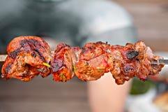 κρέας που ψήνεται Στοκ Εικόνα