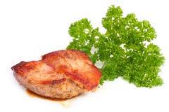 κρέας πρασίνων που ψήνεται Στοκ Εικόνα