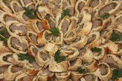 κρέας ρωσικά τροφίμων πιάτω&nu στοκ εικόνες