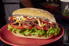 Κρέας σάντουιτς, Milanese Αργεντινή Στοκ εικόνα με δικαίωμα ελεύθερης χρήσης