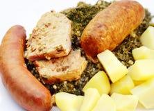 κρέας σγουρού κατσαρού &lam Στοκ εικόνα με δικαίωμα ελεύθερης χρήσης