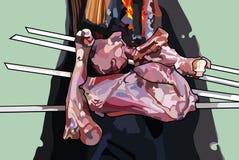 Κρέας στα οβελίδια στη σχάρα Στοκ εικόνα με δικαίωμα ελεύθερης χρήσης