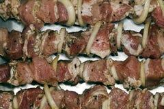 Κρέας στα οβελίδια Στοκ φωτογραφία με δικαίωμα ελεύθερης χρήσης