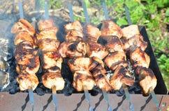 Κρέας στη σχάρα Στοκ εικόνες με δικαίωμα ελεύθερης χρήσης