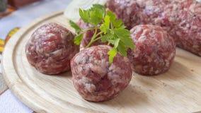 κρέας σφαιρών που κομματι Στοκ φωτογραφία με δικαίωμα ελεύθερης χρήσης