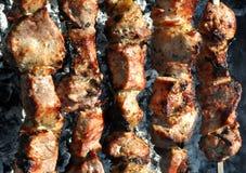 Κρέας σχαρών σχαρών, κινηματογράφηση σε πρώτο πλάνο Στοκ Εικόνα