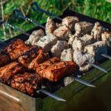 Κρέας σχαρών σχαρών Στοκ φωτογραφία με δικαίωμα ελεύθερης χρήσης