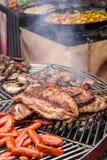 Κρέας σχαρών LIT Στοκ Εικόνες