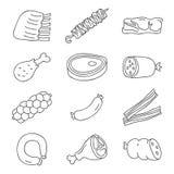 κρέας τα εύκολα εικονίδια ανασκόπησης αντικαθιστούν το διαφανές διάνυσμα σκιών Στοκ εικόνες με δικαίωμα ελεύθερης χρήσης