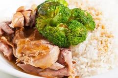 Γεύμα καλύμματος ρυζιού brocoli της Τουρκίας Στοκ Εικόνες