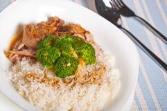 Γεύμα καλύμματος ρυζιού brocoli της Τουρκίας Στοκ Φωτογραφίες
