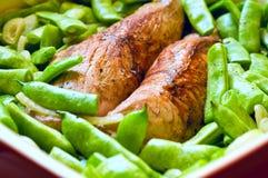 Κρέας χοιρινού κρέατος με τα λαχανικά Στοκ Εικόνες