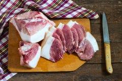 Κρέας χοιρινού κρέατος με το μπέϊκον Στοκ φωτογραφία με δικαίωμα ελεύθερης χρήσης