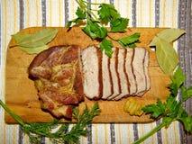 Κρέας, χοιρινό κρέας που ψήνεται Στοκ Εικόνες