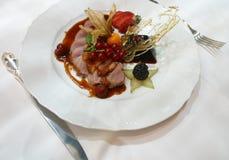 κρέας 2 πιάτων Στοκ φωτογραφία με δικαίωμα ελεύθερης χρήσης