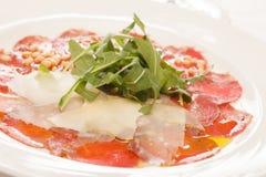 Κρέας Carpaccio στοκ φωτογραφίες