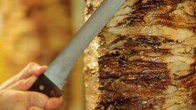 Κρέας Doner kebab απόθεμα βίντεο