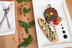 Κρέας Tartare Στοκ φωτογραφίες με δικαίωμα ελεύθερης χρήσης