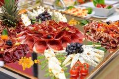 Κρέατα και επιλογή τυριών Στοκ Εικόνα
