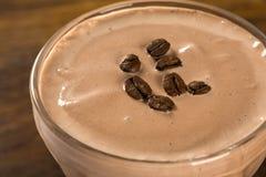 Κρέμα καφέ πάγου Εκλεκτική εστίαση Στοκ Εικόνες