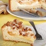κρέμα καφέ τυριών κέικ μήλων Στοκ φωτογραφία με δικαίωμα ελεύθερης χρήσης