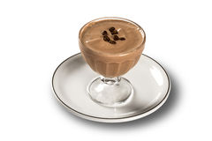Κρέμα καφέ, pannacotta, εκλεκτική εστίαση Στοκ φωτογραφίες με δικαίωμα ελεύθερης χρήσης