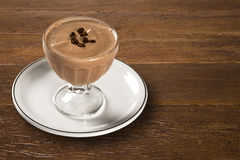 Κρέμα καφέ, pannacotta, εκλεκτική εστίαση Στοκ εικόνες με δικαίωμα ελεύθερης χρήσης