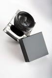 κρέμα μαύρων κουτιών Στοκ Εικόνες