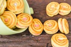 Κρέμα μπισκότων στο φλυτζάνι Στοκ Εικόνα