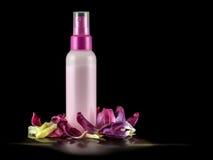 Κρέμα σε ένα πλαστικό μπουκάλι Στοκ Εικόνα
