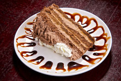 κρέμα σοκολάτας κέικ κρε στοκ φωτογραφία με δικαίωμα ελεύθερης χρήσης