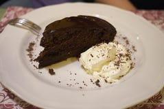 κρέμα σοκολάτας κέικ πο&upsilo στοκ φωτογραφία με δικαίωμα ελεύθερης χρήσης