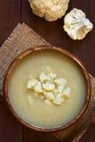 Κρέμα της σούπας Caulifower Στοκ Φωτογραφίες