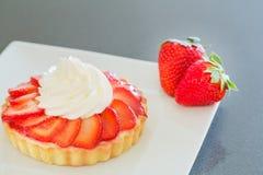 Κρέμα φραουλών ξινή Στοκ Εικόνα
