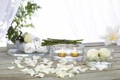 κρέμα essentials face flowers spa κύπελλων Στοκ Εικόνα