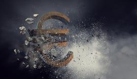 κρίση έννοιας οικονομική Μικτά μέσα Στοκ φωτογραφία με δικαίωμα ελεύθερης χρήσης