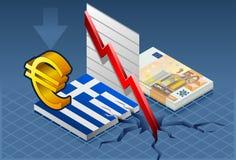 κρίση Ελλάδα isometric ελεύθερη απεικόνιση δικαιώματος