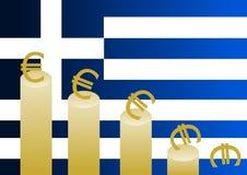 κρίση ελληνικά Στοκ Εικόνες